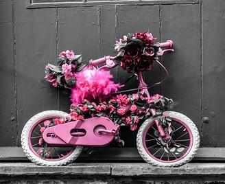 子供用自転車のオブジェ