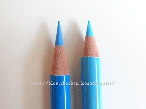 カールとカルハーフ仕上がり比較、色鉛筆